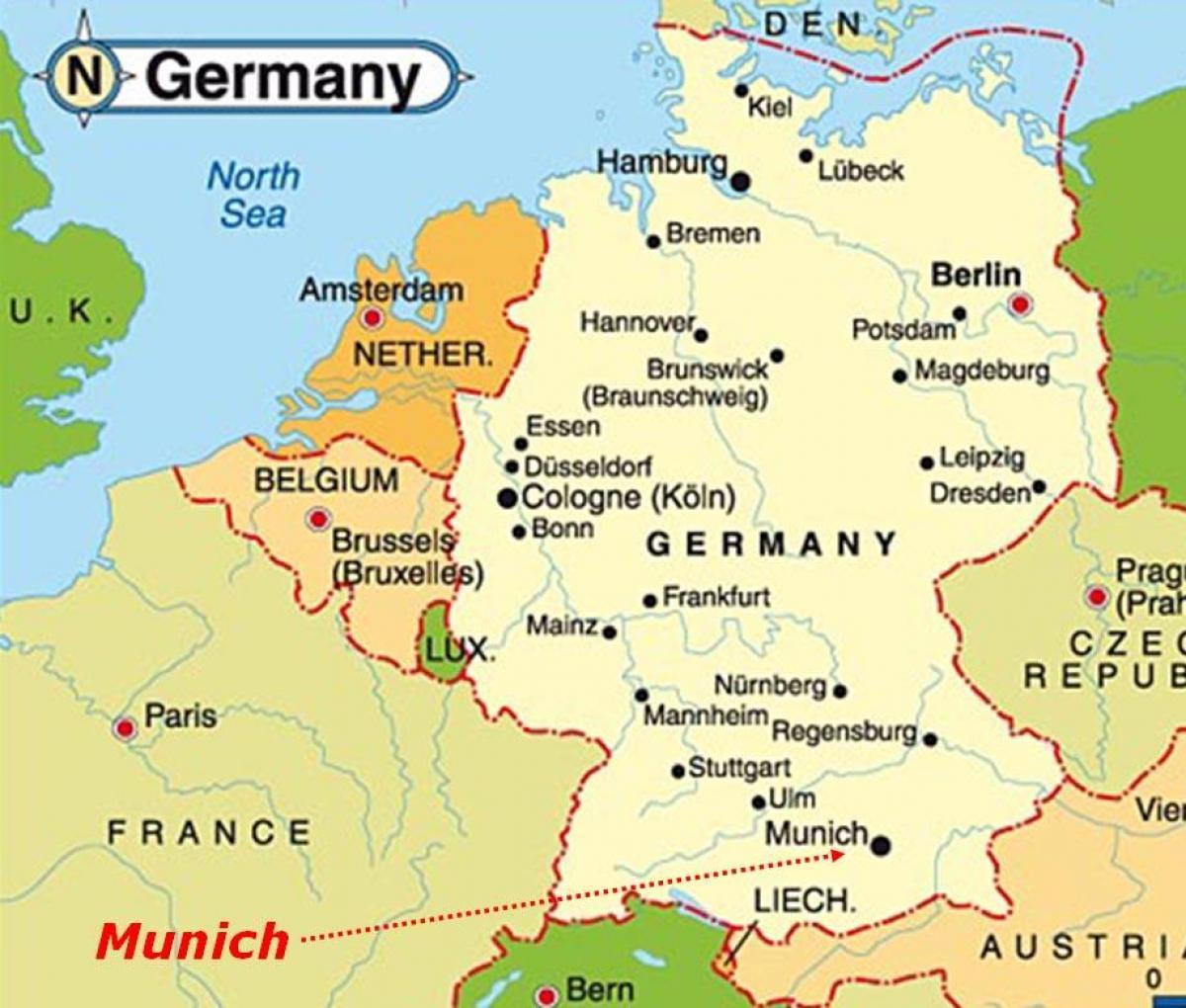 Allemagne carte Europe